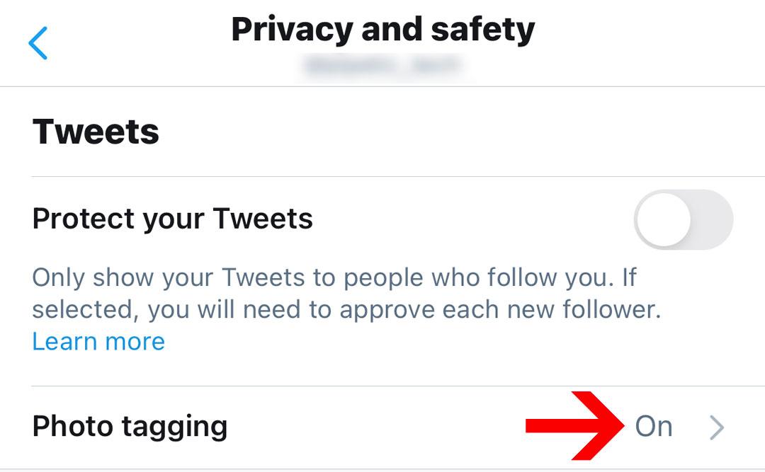 Opción para ser etiquetado en las fotos en Twitter