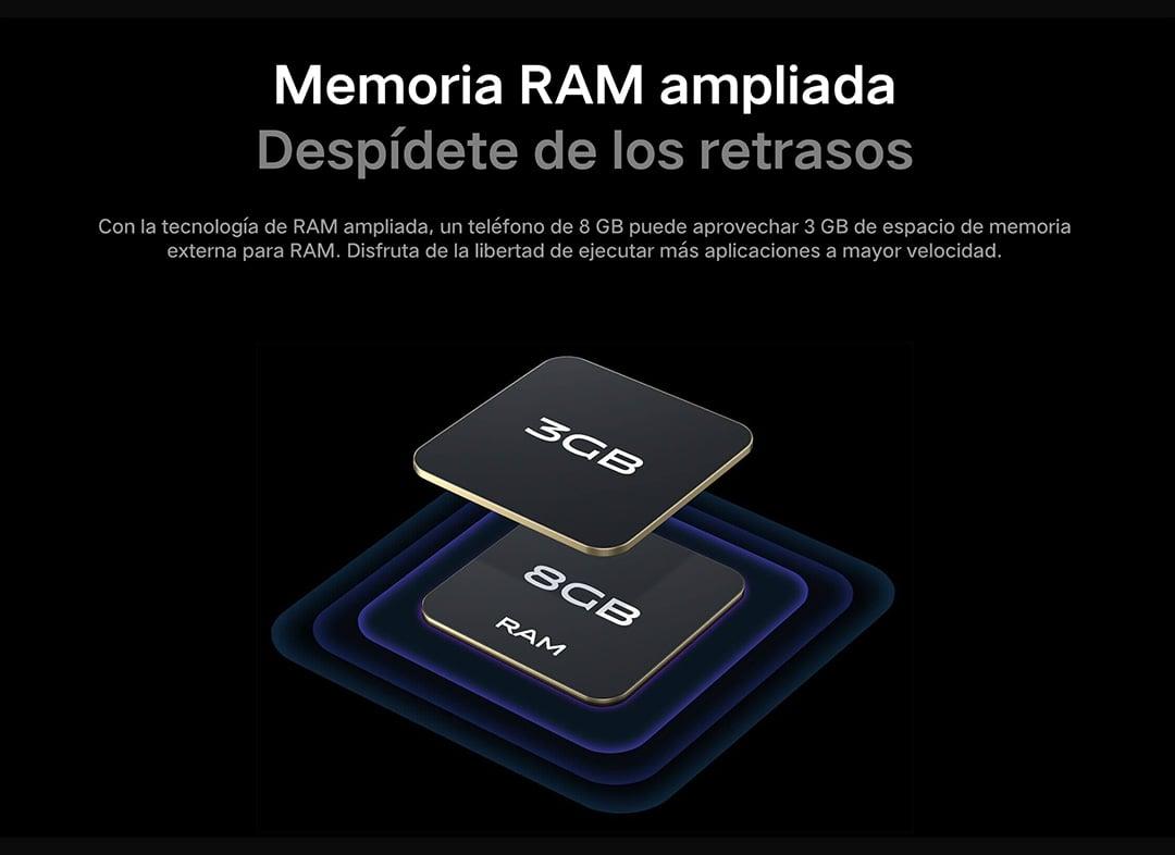 Capacidad de memoria instalada del vivo V21