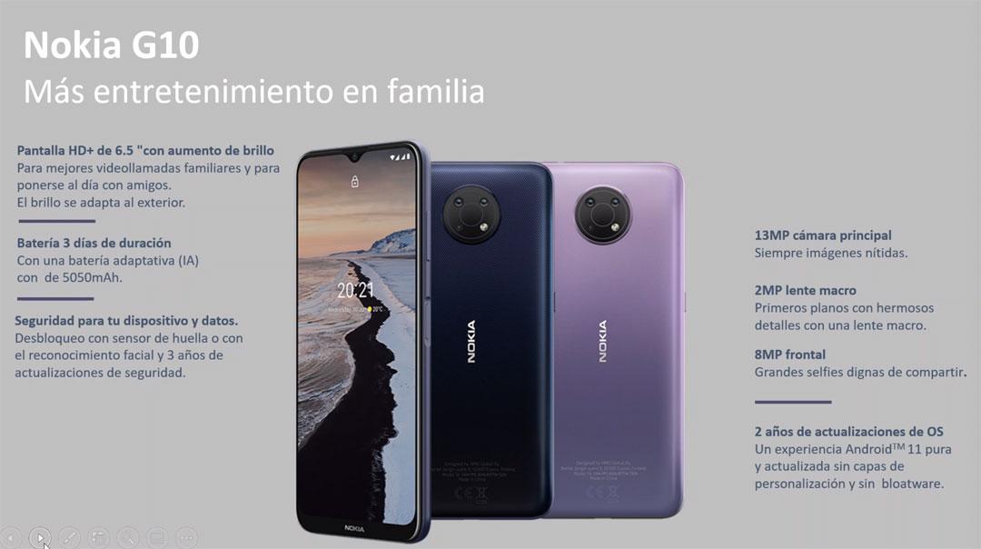 Detalles del Nokia G10