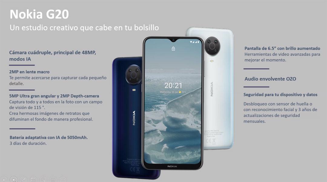 Detalles del Nokia G20