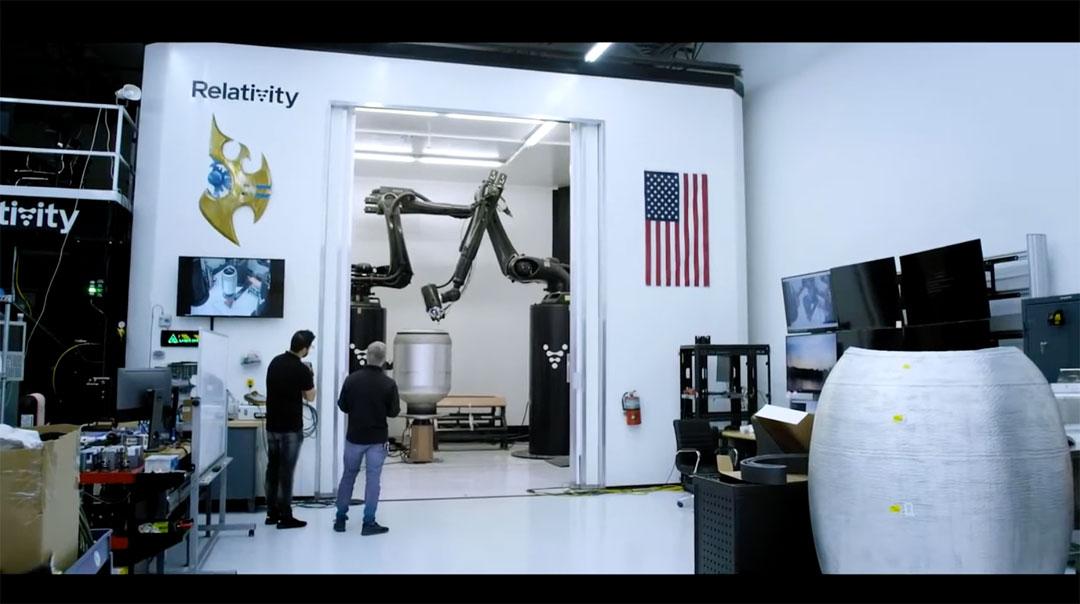 Impresión 3D de cohetes - Relativity