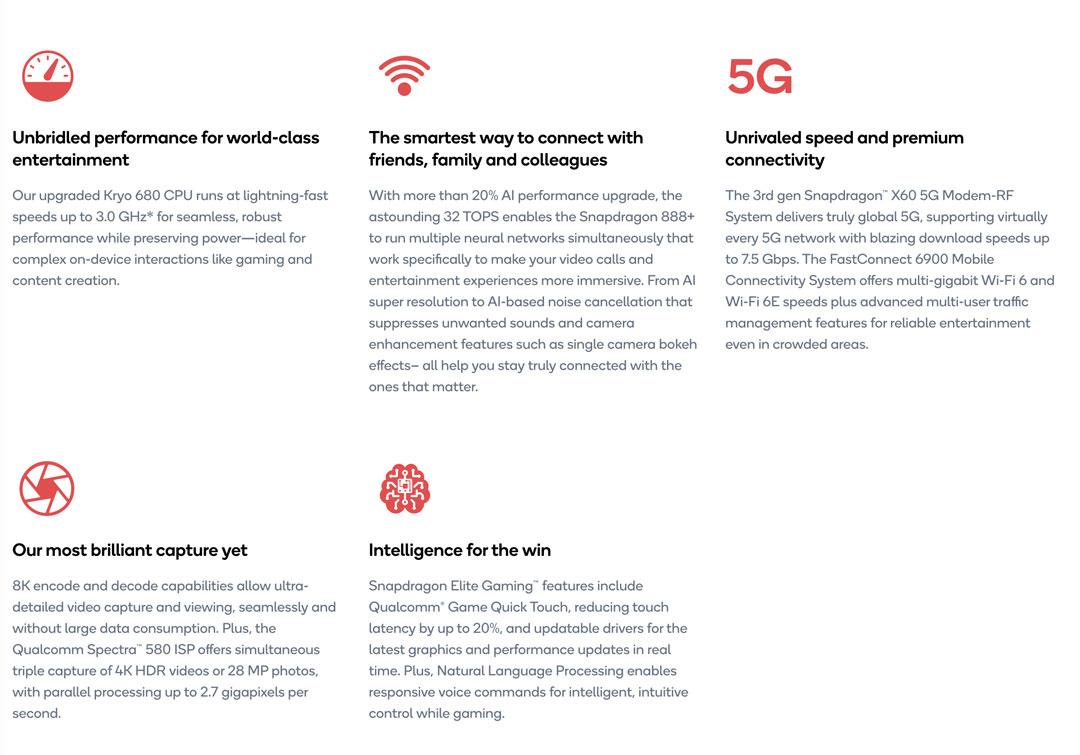 Las ventajas de Qualcomm Snapdragon 888+