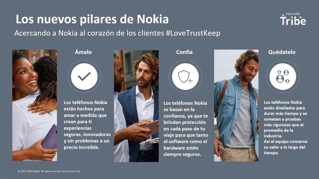 Los nuevos pilares de Nokia: Ámalo, Confía y Quédatelo