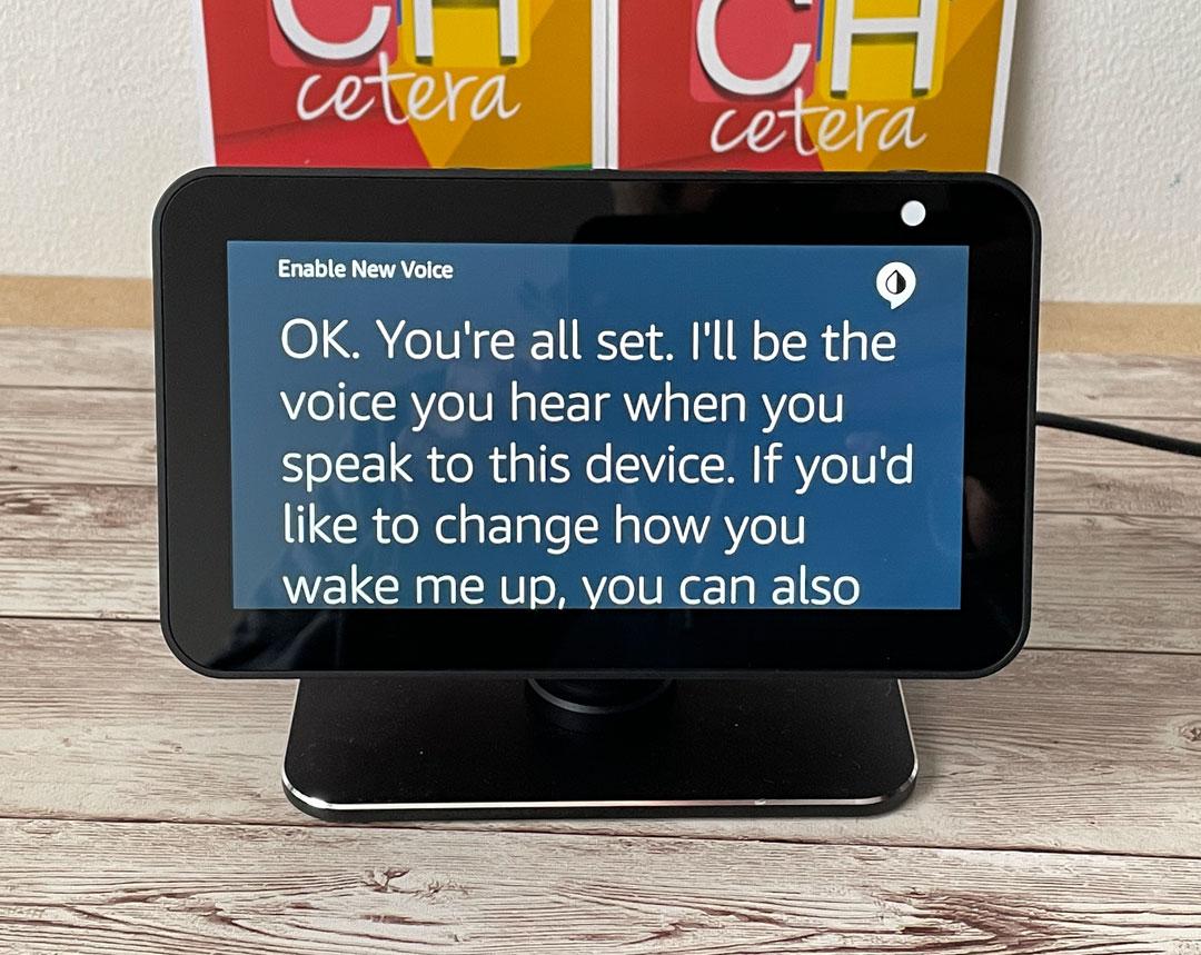 Nueva voz de Amazon Echo