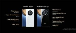 El set de cámaras del Honor Magic3 y Honor Magic3 Pro