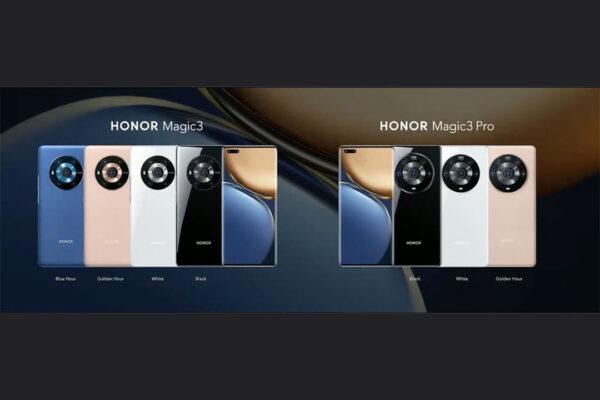 Los colores de Honor Magic3 y Honor Magic3 Pro