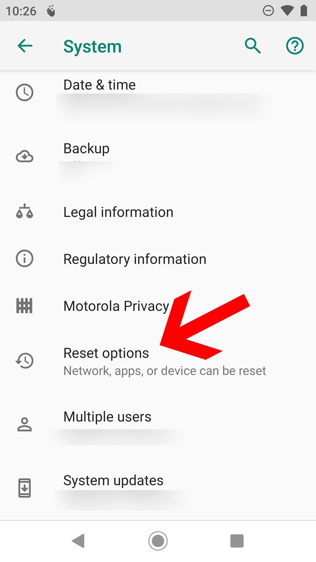 Proceso para restaurar el Android a valores de fabrica parte 2