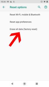 Proceso para restaurar el Android a valores de fabrica parte 3
