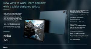 Especificaciones de la Nokia T20