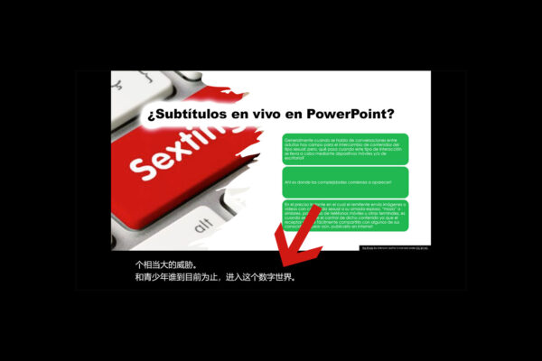 Subtitulos en vivo en PowerPoint